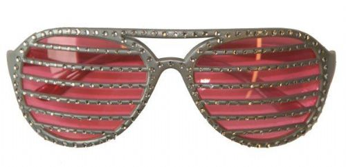 Party Glasses Diamond Slotted Grid Retro 80s 90s Pop 80s New Romantic